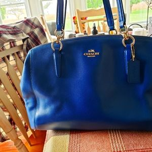 Beautiful Blue Coach Bag